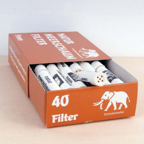 Filtr fajkowy, filtry do fajki 9mm meerschaum 40 szt 05027 marki White elephant