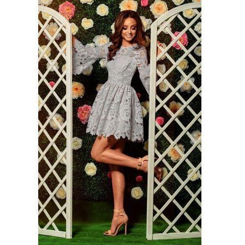 c69665ea92 Romantyczna sukienka z koronki L262 jasn.