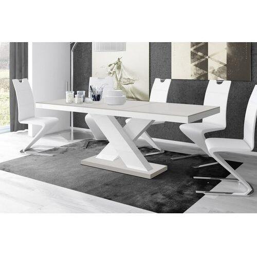 Stół rozkładany XENON 160-208 Jasnoszaro-biały mat