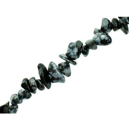 Kamień Jubilerski Obsydian Snieżny Sieczka Drobna 3~7mm 20szt