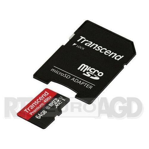 premium microsdxc class 10 64gb - produkt w magazynie - szybka wysyłka! marki Transcend