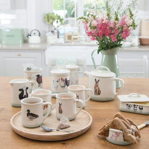 Dzbanek do herbaty ceramiczny 1,4 litra zając apple farm kitchen craft (afteapot)