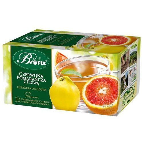 Herbata premium czerwona pomarańcza z pigwą 20x2g marki Bi fix