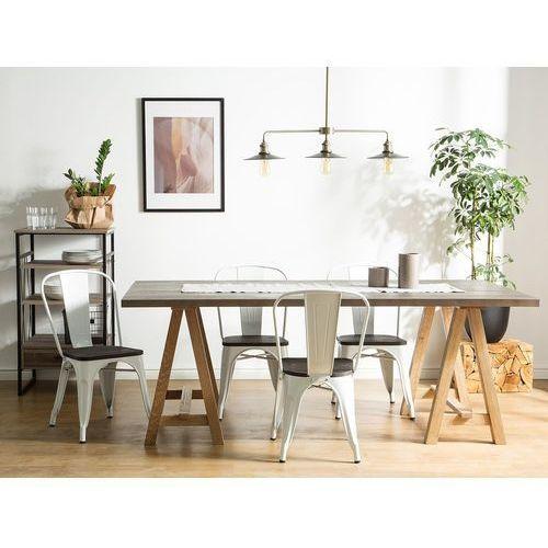 Krzesło do jadalni biało-ciemnobrązowe APOLLO, kolor biały