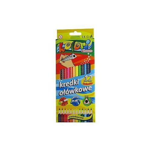 Kredki ołówkowe kolori 12 kolorów marki Penmate