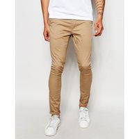 extreme super skinny chinos in stone - stone, Asos