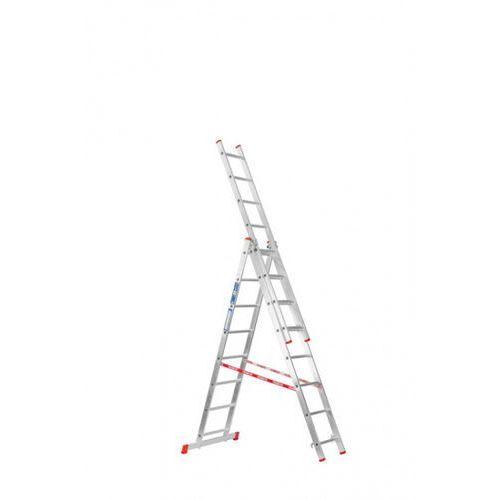 B2b partner Trzyczęściowa aluminiowa drabina hobby, 3x8 stopni, 4,52 m (8594155390076)