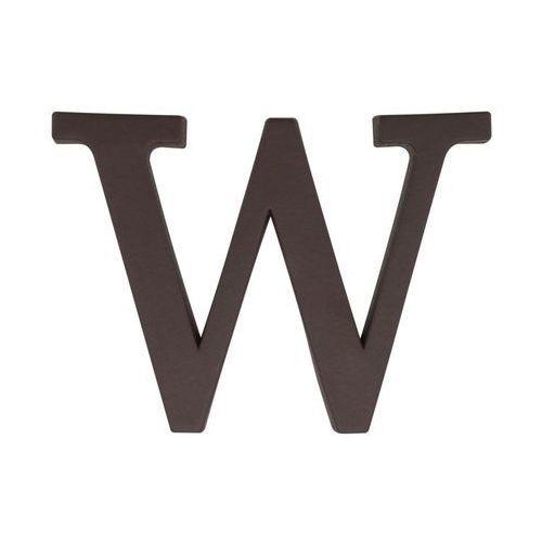 Litera W wys. 9 cm PVC brązowa