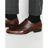 etched brogues in brown leather - brown marki Red tape
