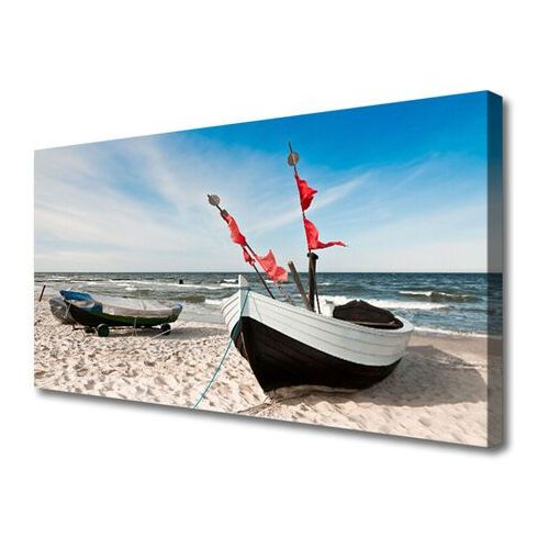 Obraz canvas łódka plaża krajobraz marki Tulup.pl