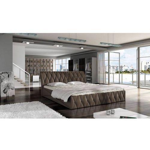 łóżko tapicerowane mozela z pojemnikiem 160 x 200 marki Frankhauer