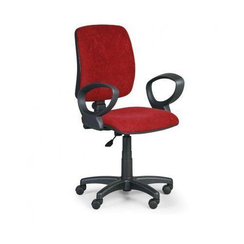Krzesło biurowe torino ii z podłokietnikami - czerwone marki Euroseat