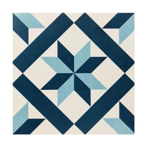 Gres szkliwiony HANOI BLUE STAR 32.9 X 32.9 EUROCERAMIKA (8431784104844)