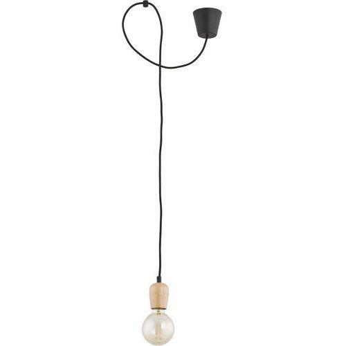 Lampa wisząca zwis oprawa TK Lighting Qualle 1x60W E27 czarna 8629