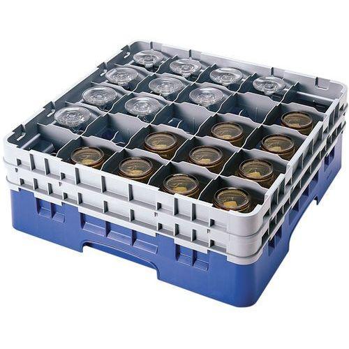 Pełnowymiarowa skrzynka na kieliszki i szklanki, 25 pól, śr. 87 mm, wys. 238 mm | CAMBRO, Camrack