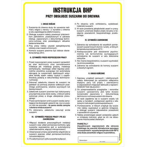 Top design Instrukcja bhp przy obsłudze suszarni do drewna