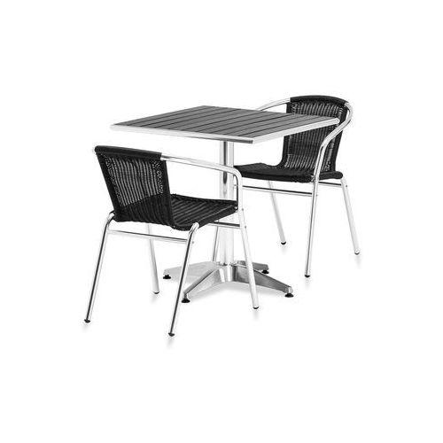 Zestaw – prostokątny stół kawiarniany + 2 krzesła marki Aj produkty