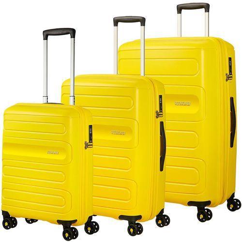 American Tourister Sunside zestaw walizek / komplet / walizki na 4 kółkach / żółty - Sunshine Yellow