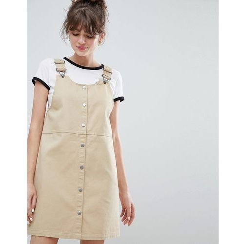 mini dungarees dress - beige marki Monki