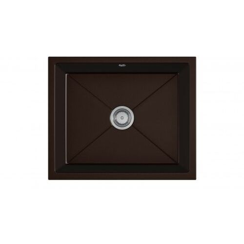 Eos Zlewozmywak granitowy podwieszany desk brązowy