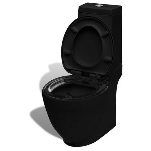 Vidaxl toaleta, miska klozetowa, czarna, kwadrat (8718475844761)