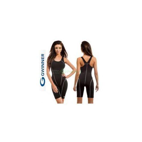 Gwinner Olga strój kąpielowy pływacki chloroodporny czarny  + czepek | wysyłka 24h