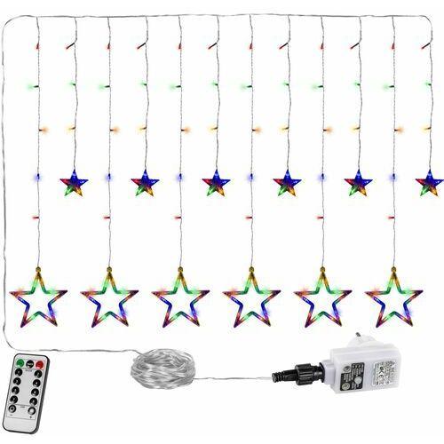Voltronic ® Wielokolorowa kurtyna na okno 12 gwiazd 150 diod lampki choinkowe - 150 led / mix kolorów (4048821747359)