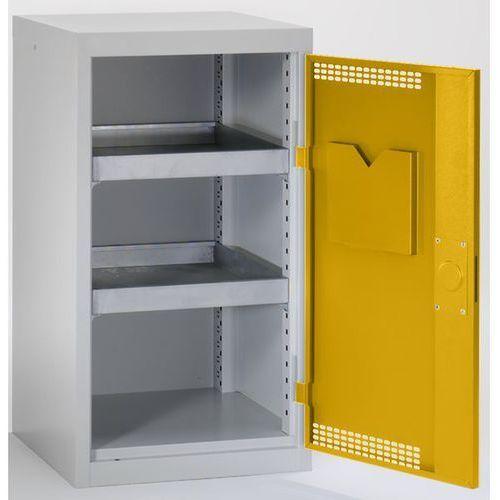 Stumpf-metall Szafa ekologiczna, drzwi perforowane, wys. x szer. x głęb. 900x500x500 mm, 2 pół