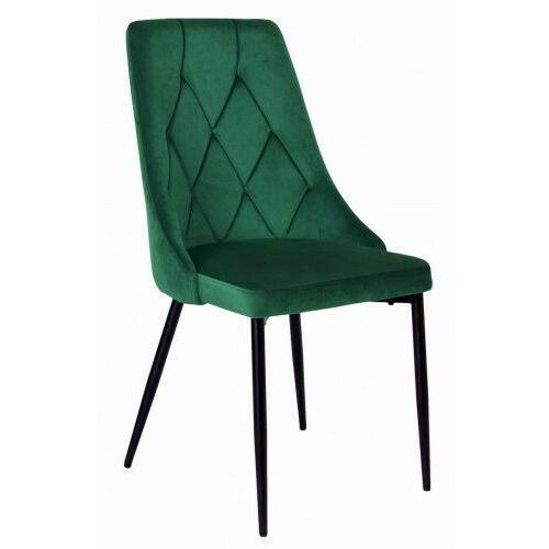 Krzeslaihokery Krzesło welurowe larry butelkowa zieleń