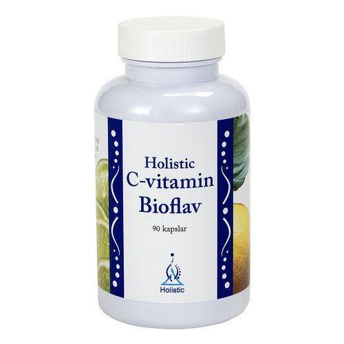 Lewoskrętna Witamina C Bioflav - 1 kaps - 625% ZDS witamina C z bioflawonoidami Holistic 90 kaps (lek witaminy i minerały)