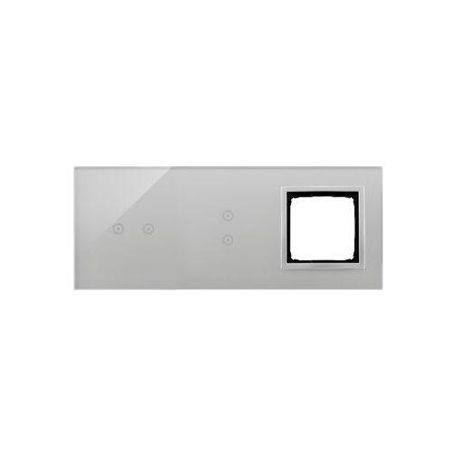 Panel dotykowy Simon 54 Touch DSTR3230/71 3 moduły 2 pola dotykowe poziome, 2 pola dotykowe pionowe, otwór na osprzęt Simon 54, srebrna mgła, DSTR3230/70