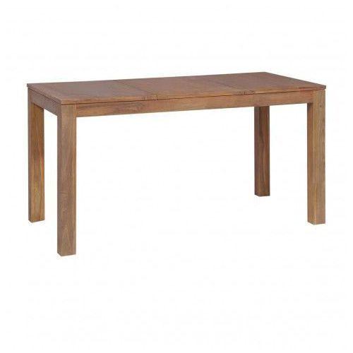 Stół z drewna tekowego margos 3x – brązowy marki Elior