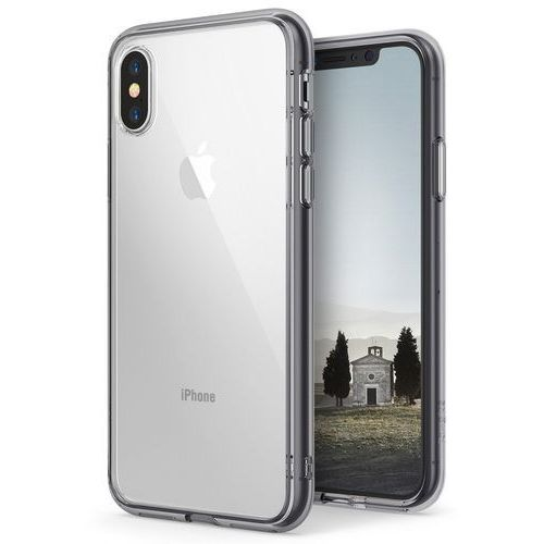 Rearth Etui ringke fusion apple iphone xs max smoke black - czarny (8809628563568)