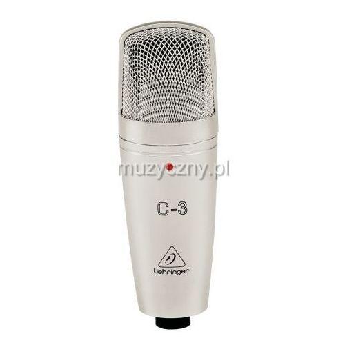 Behringer C3 mikrofon pojemnościowy z kategorii Akcesoria studyjne