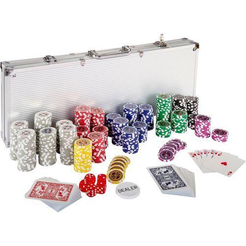 Mks Zestaw do pokera żetony 7 nominałów gra poker 500 (20030017)