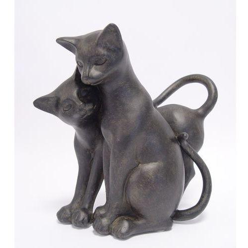 Moodgood Dwa przytulone kotki luksusowa figura do domu i ogrodu kotek kot