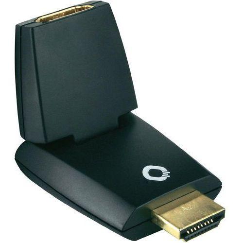Przejściówka, adapter kątowy HDMI Oehlbach 8520, [1x Złącze męskie HDMI - 1x Złącze żeńskie HDMI], Pozłacane wtyczki, kup u jednego z partnerów