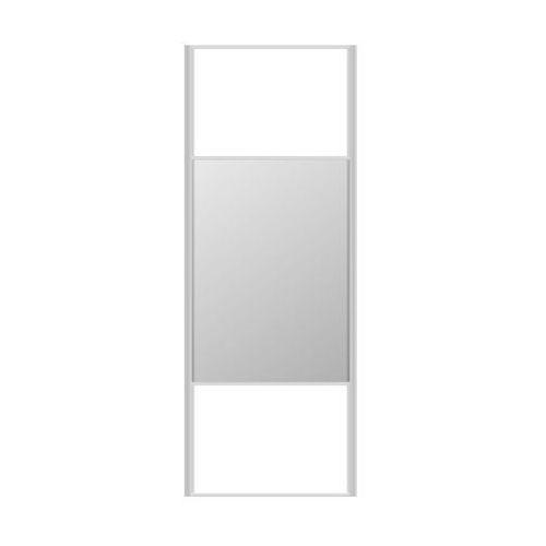 Spaceo Drzwi przesuwne do szafy białe/lustro 67 cm (5901171243010)