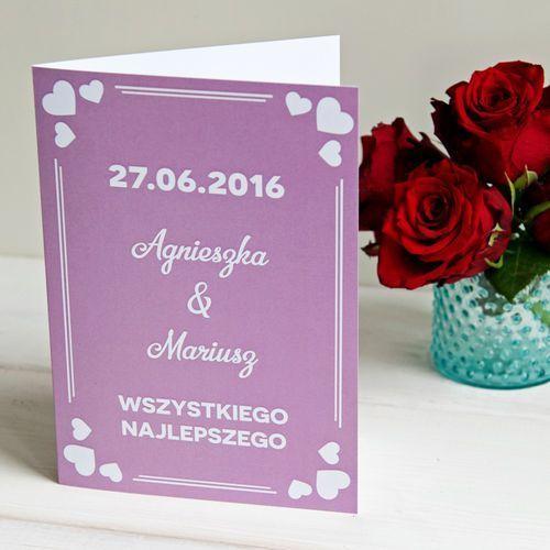 Wszystkiego najlepszego LOVE - kartka z życzeniami - Kartka z życzeniami