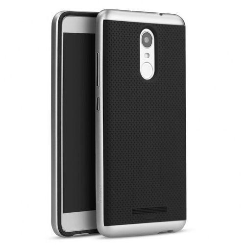 Etui iPaky Premium Hybrid Xiaomi Redmi Note 3 Silver + Szkło (5903068630996)