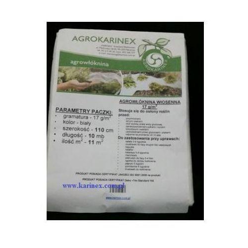 Agrowłóknina wiosenna pp 17 g/m2 biała 1,1 x 10 mb. marki Agrokarinex