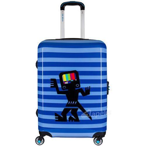 Bg berlin urbe średnia walizka na 4 kółkach / 67 cm / caveman 2 - niebieski (6906053042971)