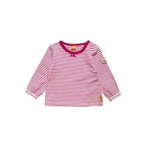 Steiff  collection sweet teddy bluzka z długim rękawem vivacious pink (4056178534959)