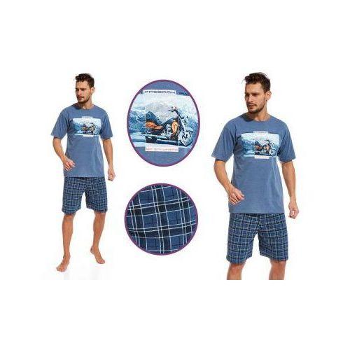 Piżama męska RIDER: niebieski, kolor niebieski