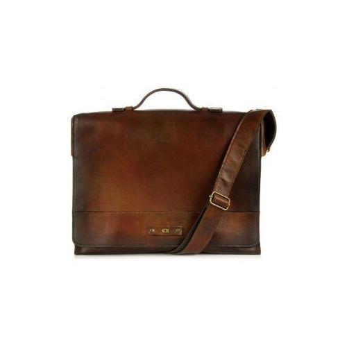 ALIVE 11 torba skóra naturalna firmy Daag na ramię z miejscem na notebook unisex