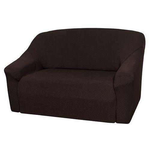 pokrowiec multielastyczny na sofę, brązowy elegant, 140 - 180 cm, 140 - 180 cm marki 4home