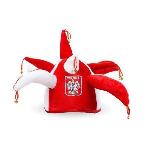 Czapka kibica z dzwoneczkami Biało - Czerwoni - 1 szt.