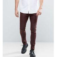 super skinny smart trouser in rust - brown, Noak