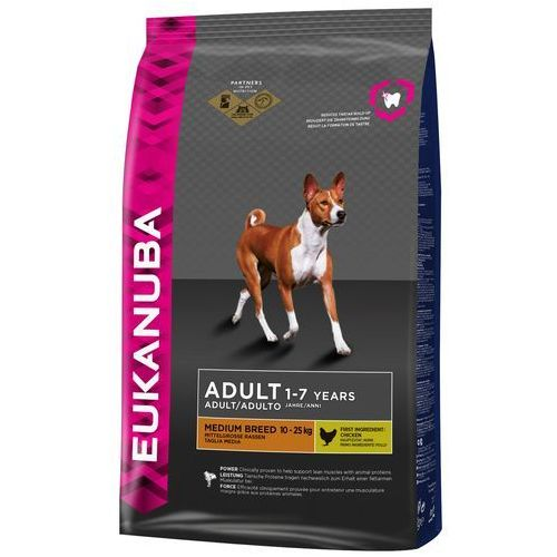 Dwupak small & medium breed - medium breed, kurczak, 2 x 15 kg marki Eukanuba