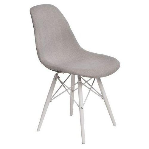 Krzesło P016W Pattern białe drewniane nogi (szare-patchwork) D2, kolor szary
